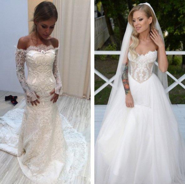 оба свадебных платья Риты Дакоты прекрасны