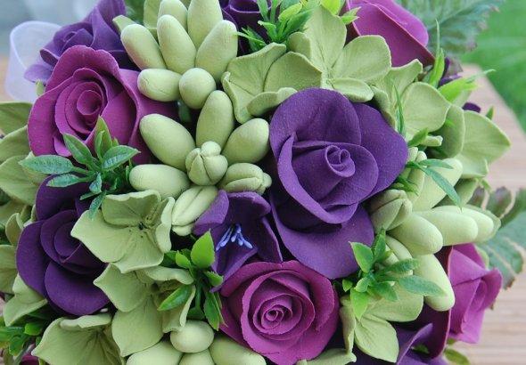 Необычный букет из роз
