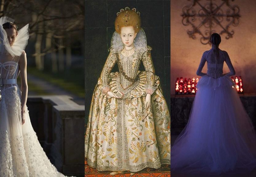 свадебнаяколлекция от Веры Вонг 2017 вдохновленабританской монархией времен Шекспира