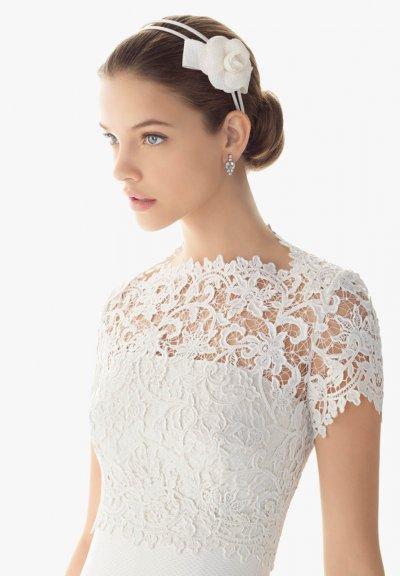 Свадебное платье с закрытым верхом или закрытой спиной