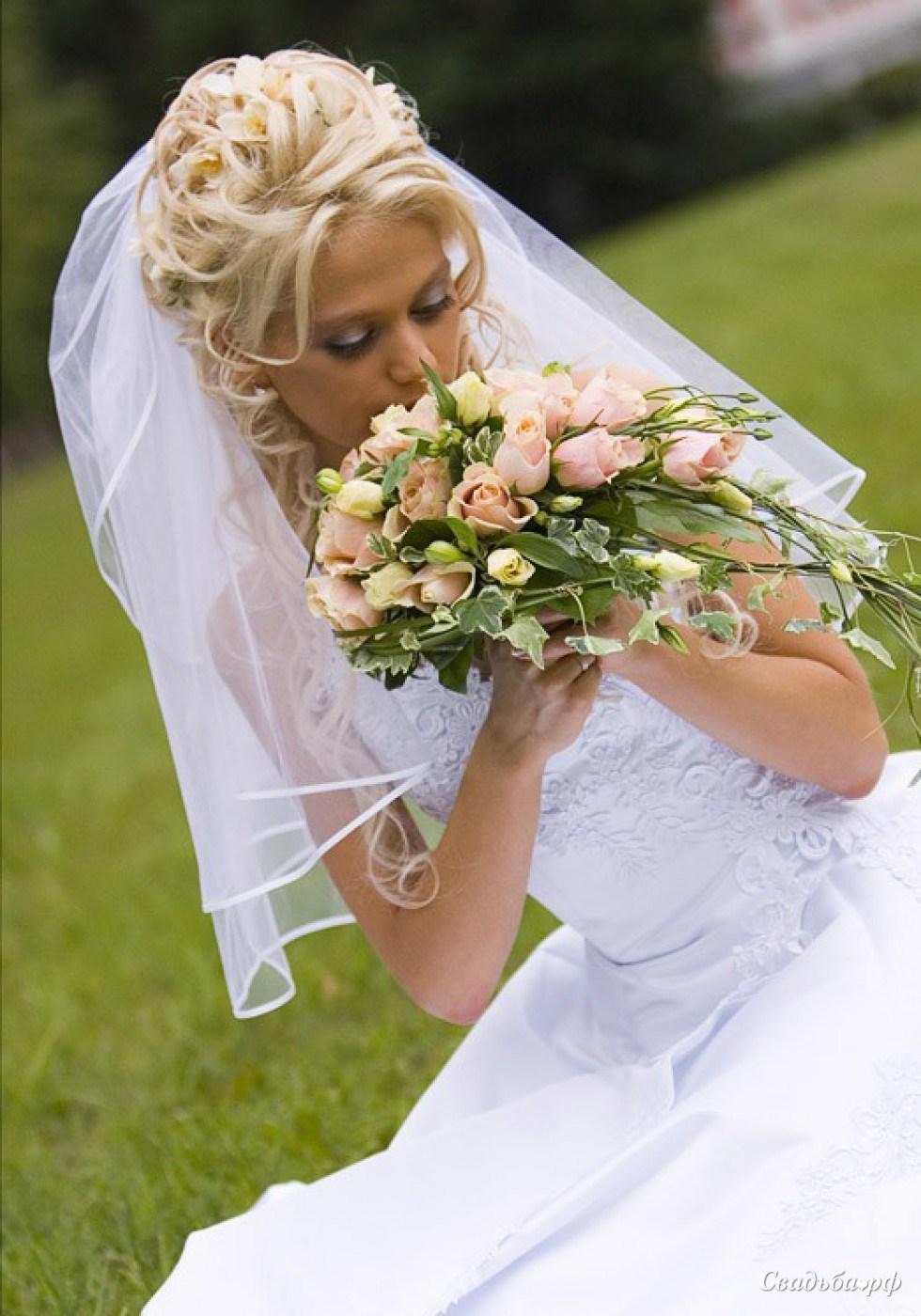 Прически свадебные с фатой пошагово