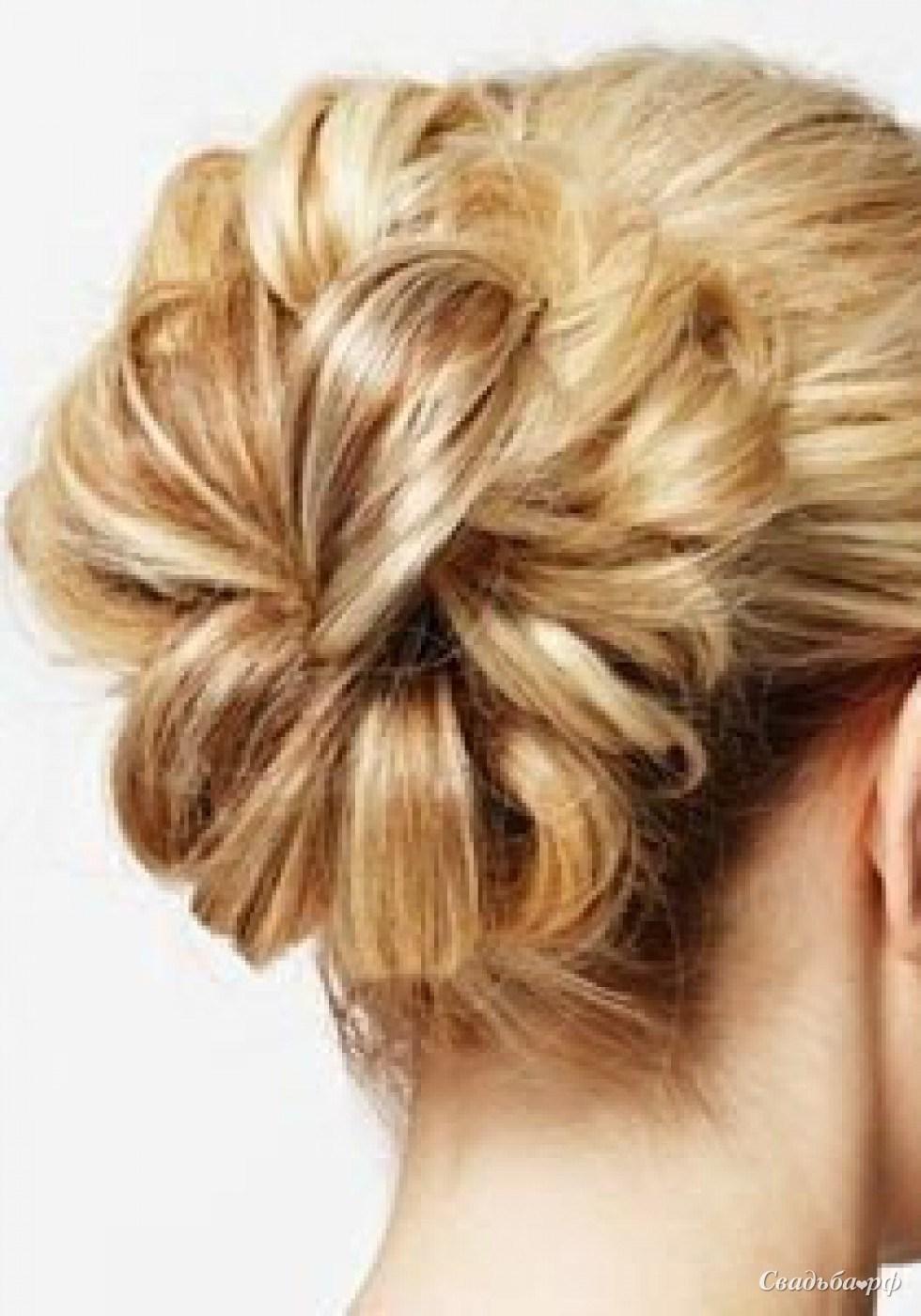 Красивые пучки из волос