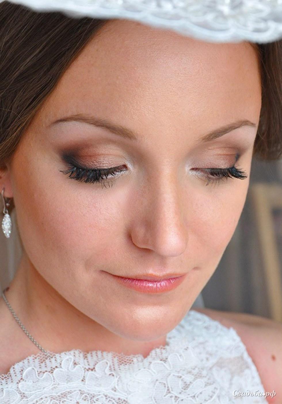 Свадебный макияж уголок фото