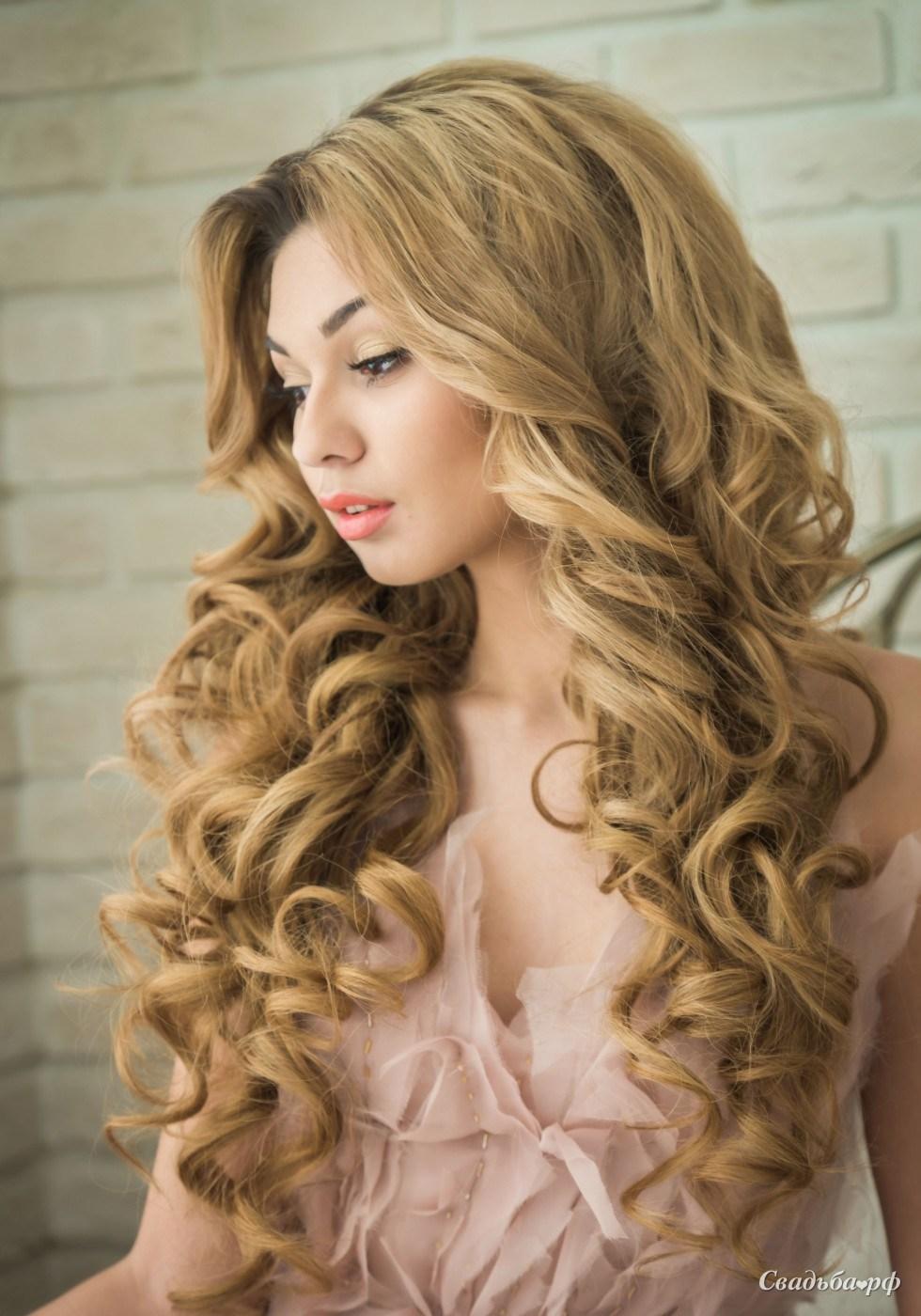 Красивые прически на длинные волосы с распущенными волосами
