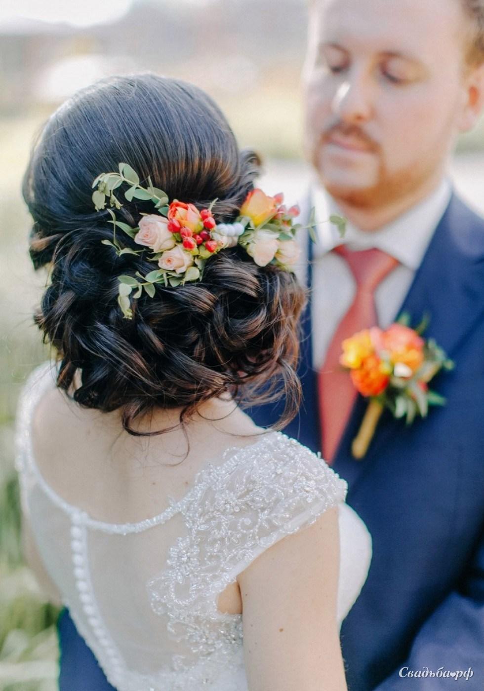 Красивые свадебные прически в 2018 году (65 фото) 86