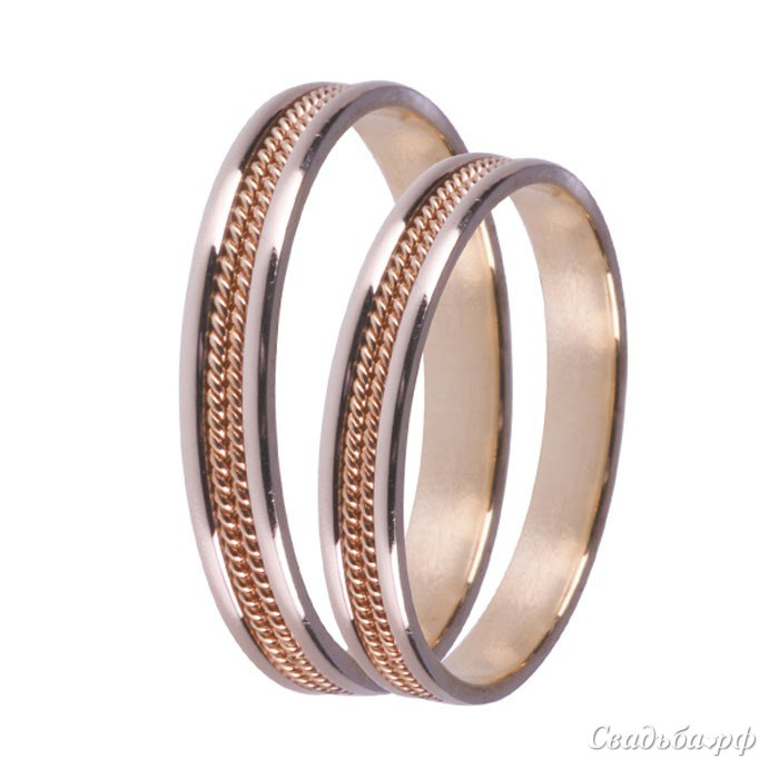 Купить обручальные кольца З491 (Италия, материал: комбинированное) - Сеть ювелирных салонов ЗЛАТОГРАД