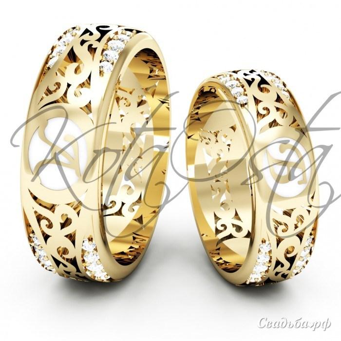 Эксклюзивные обручальные кольца фото 2