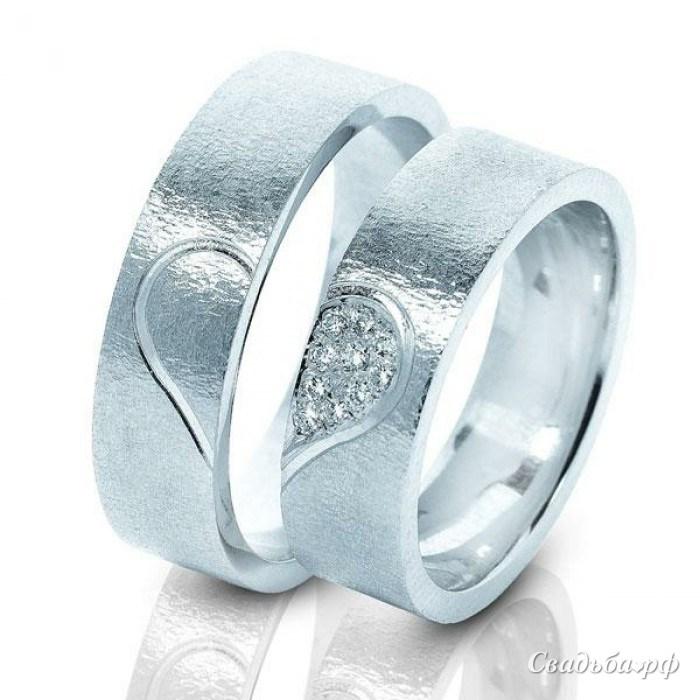 Обручальные кольца белое золото фото 8