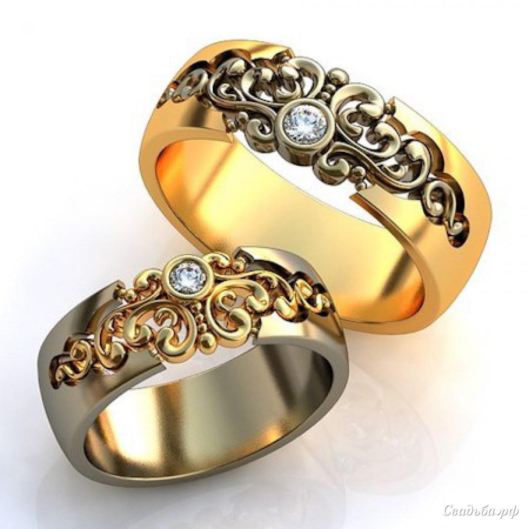 Обручальные кольца парные фото 5