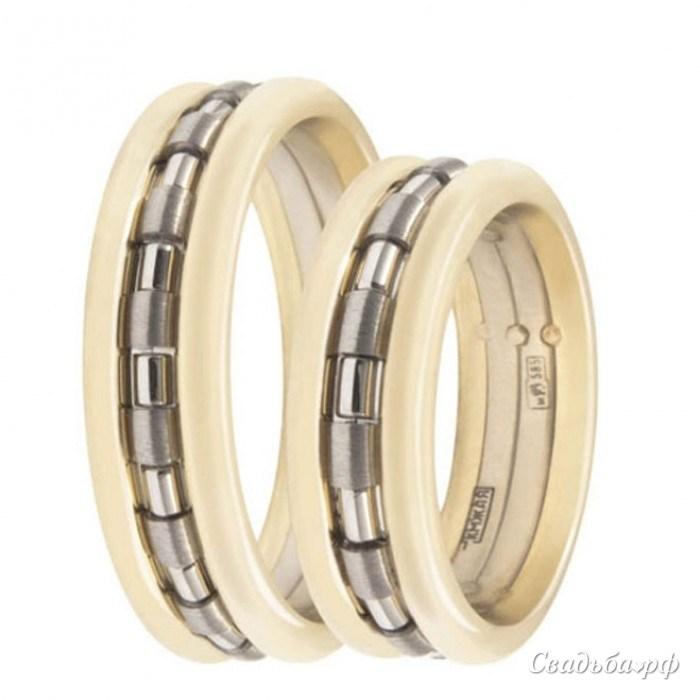 Купить обручальные кольца C-1-З604 (Италия, материал: комбинированное) - Сеть ювелирных салонов ЗЛАТОГРАД