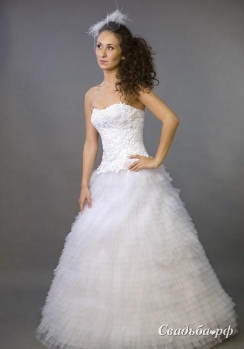 Купить свадебное платье 075-В069 (Россия, коллекция 2011, цвета: белый) - С