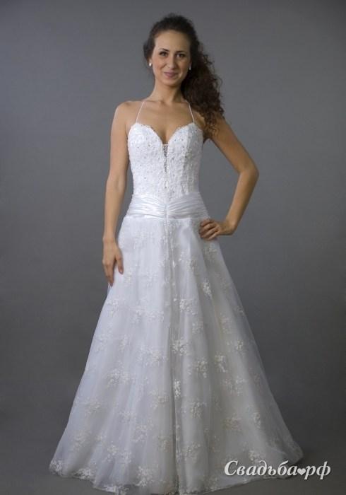 Купить свадебное платье 089-В084 (Россия, коллекция 2011, цвета: белый, гол