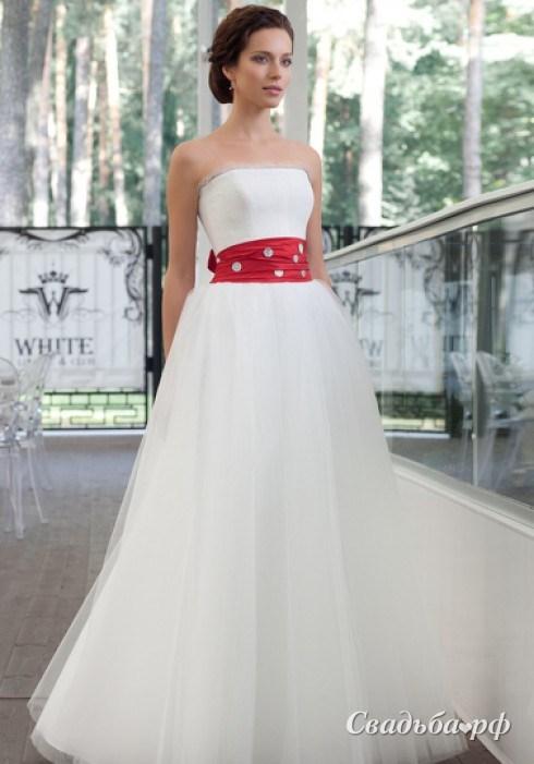 Красный свадебный пояс 10