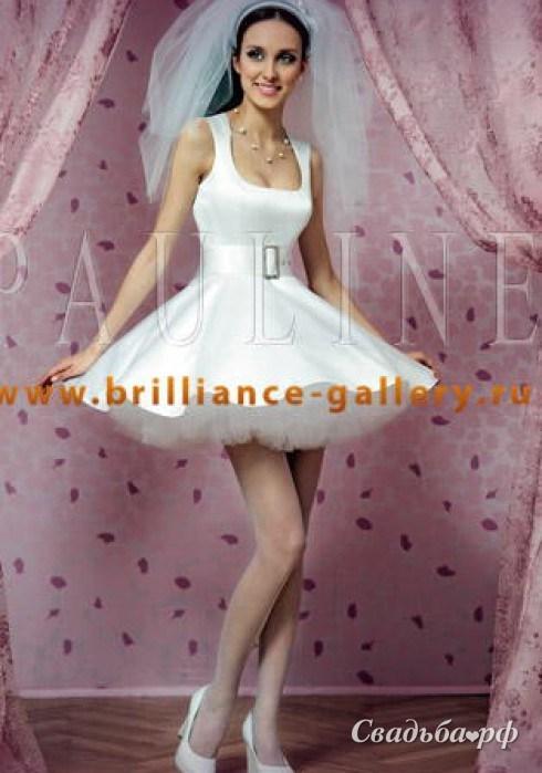 Самое красивое короткое свадебное платье 11