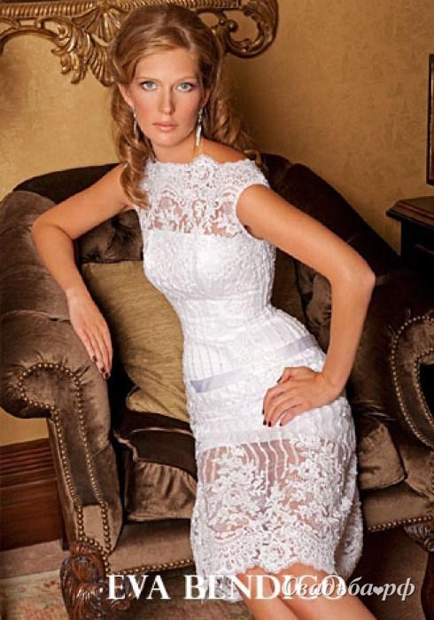 Короткие кружевные платья 6