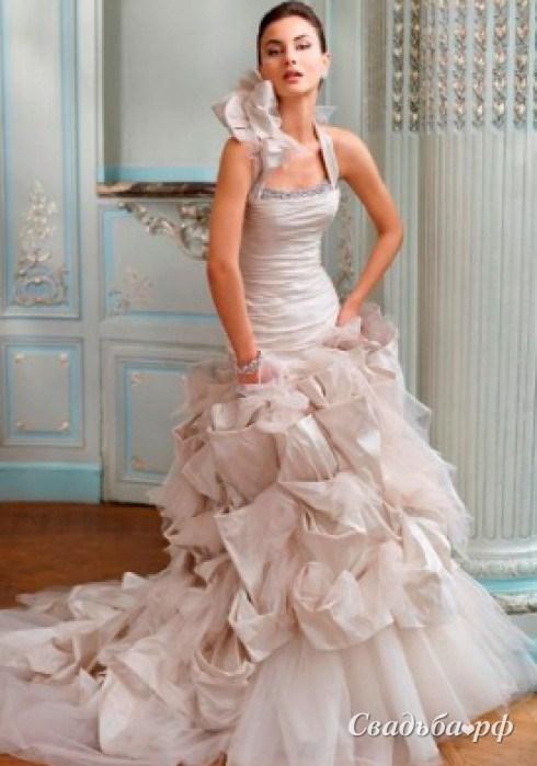 Свадебные платья из цветов фото 4