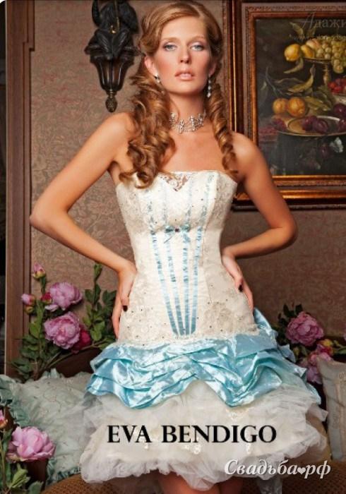 Свадебные платья цветные короткие 9