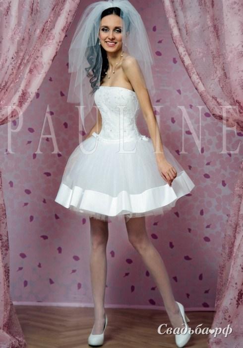 Самое красивое короткое свадебное платье 10