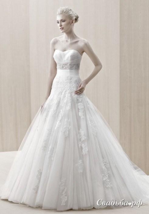 Купить свадебное платье Edson-Д468 (Enzoani, цвета: белый, айвори