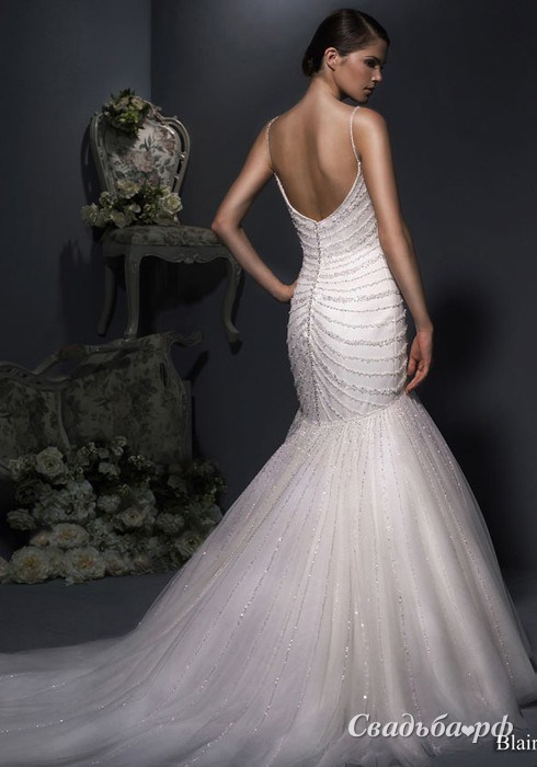 Купить свадебное платье Blair-B-Д474 (Enzoani, цвета: белый