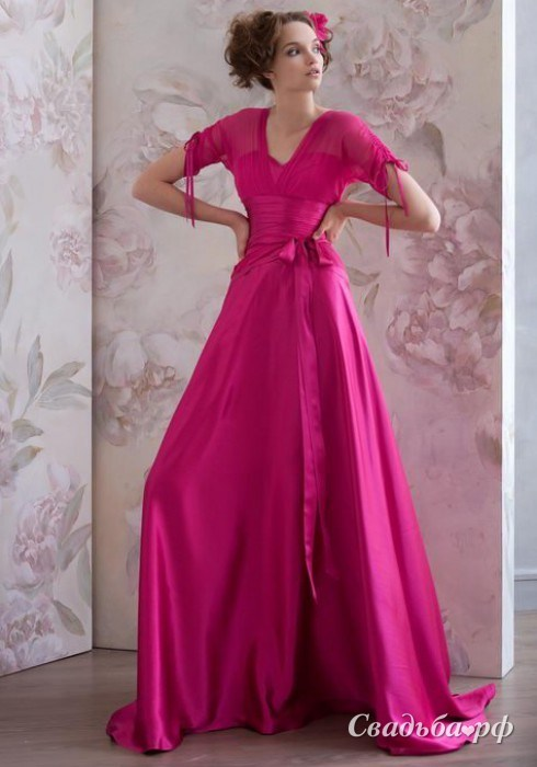 Купить вечернее платье 419-P159 (цвета: розовый) - Свадебный салон Papilio