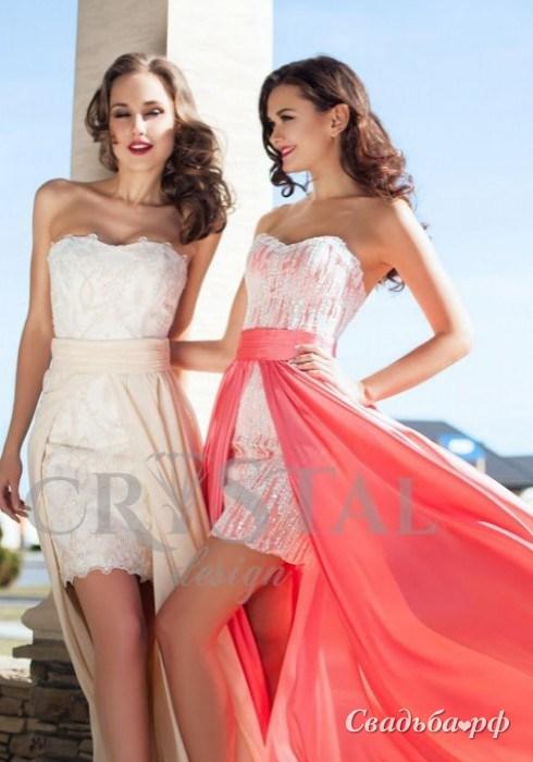 Купить вечернее платье Jeneva-М246 (Crystal Design, цвета: и др., ткань: фатин, кружево. - Свадебный салон Мендельсон