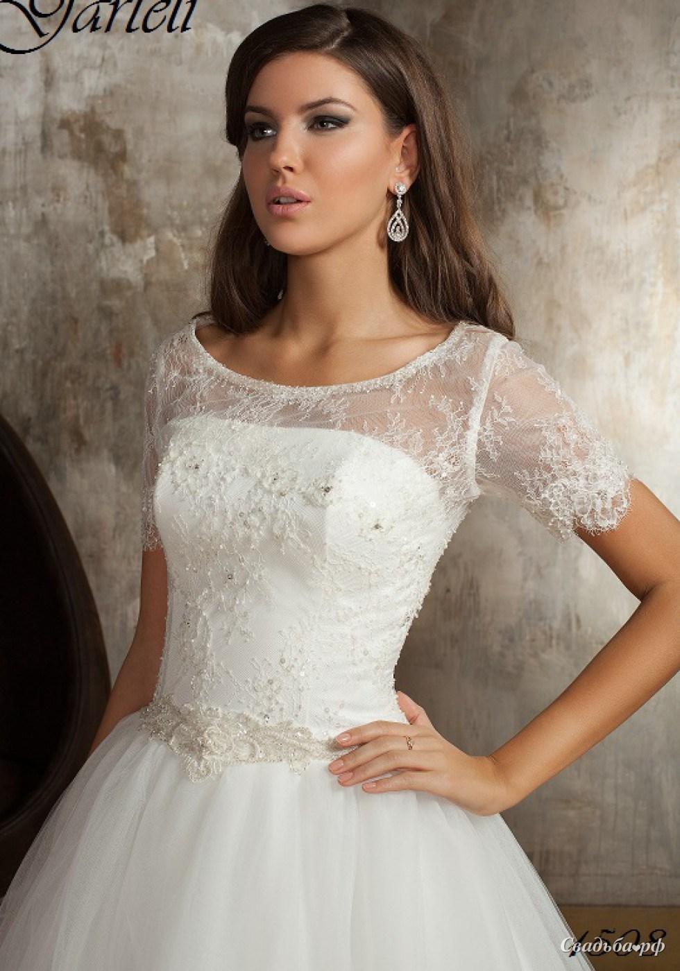 Купить свадебное платье 1508-2-М599 (Россия-Франция, цвета: белый