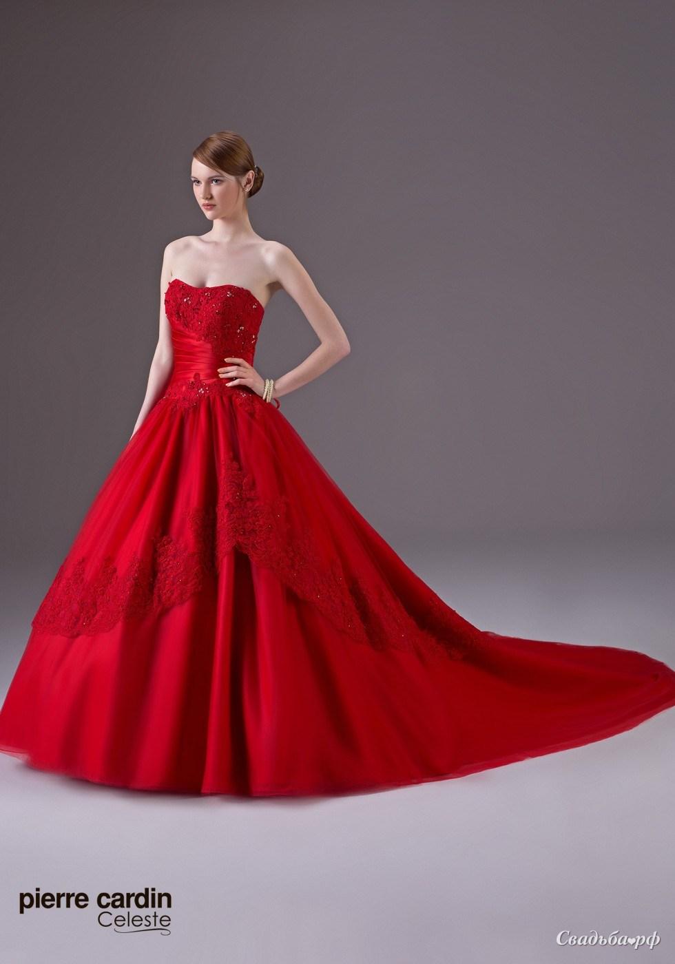 Свадебные платья красные и цены