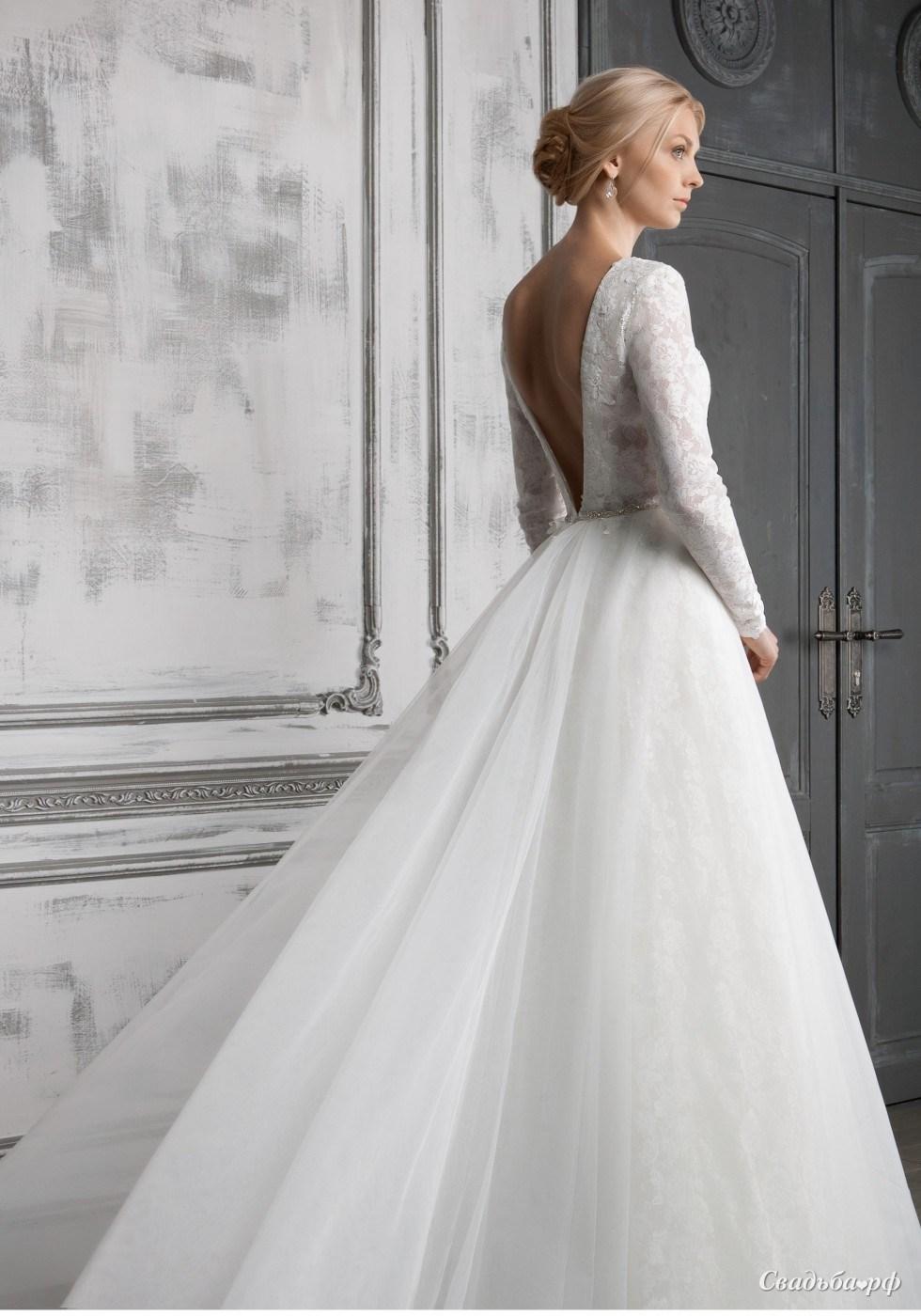 течение свадебные платья с закрытой спиной фото свадебная