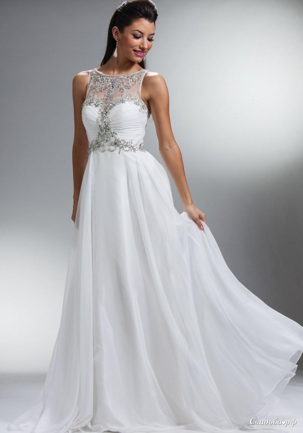 вечерние белые платья на свадьбу фото некоторые