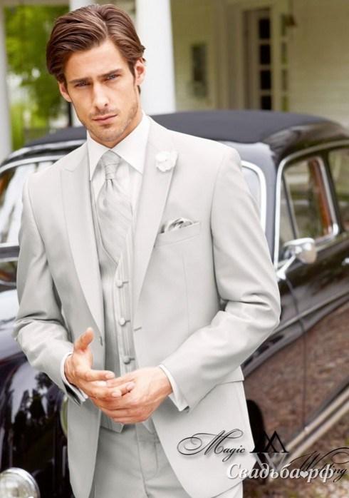 Купить серый мужской костюм 6
